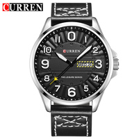 CURREN Clock Men Wrist Watch Man Top Brand Luxury Sports Male Watches Leather Army Military Mens