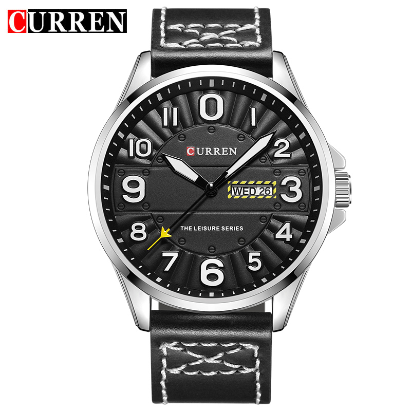 CURREN 8269 Men Wrist Watch Man Top Brand Luxury Sports Male Watches Leather Army Military Mens Wristwatch Relojes Hombre mens watches oulm top brand luxury military quartz watch unique 3 small dials leather strap male wristwatch relojes hombre