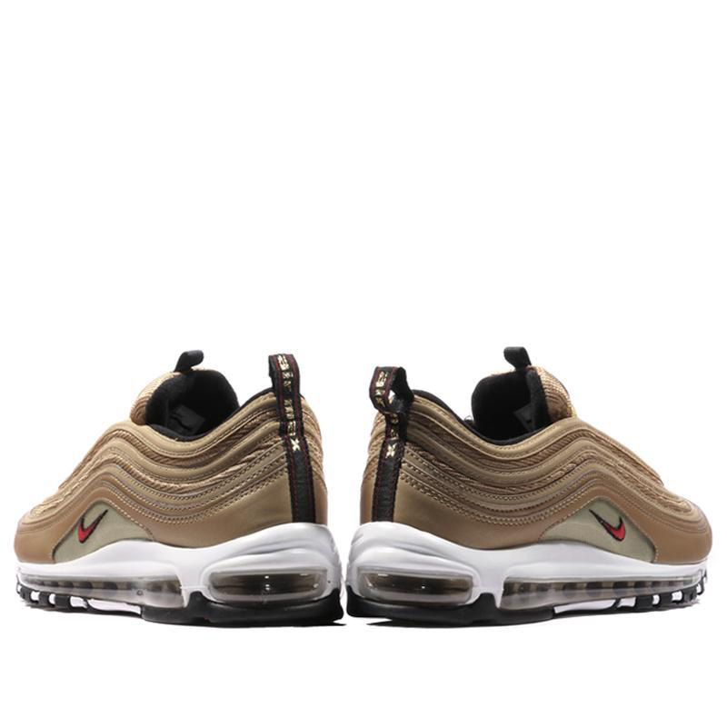 innovative design 7aedb 7861d US $76.65 55% OFF|Original Authentic Nike Air Max 97 OG Gold and Silver  Bullet Women's Running Shoes Sport Outdoor Sneakers Massage Jogging-in  Running ...