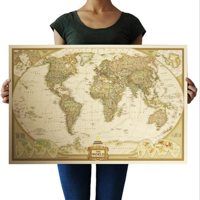 Aliexpress comprar decoracin vintage world map travel home decoracin vintage world map travel home decoracin detallada grfico mural poster papel retro papel kraft mate gumiabroncs
