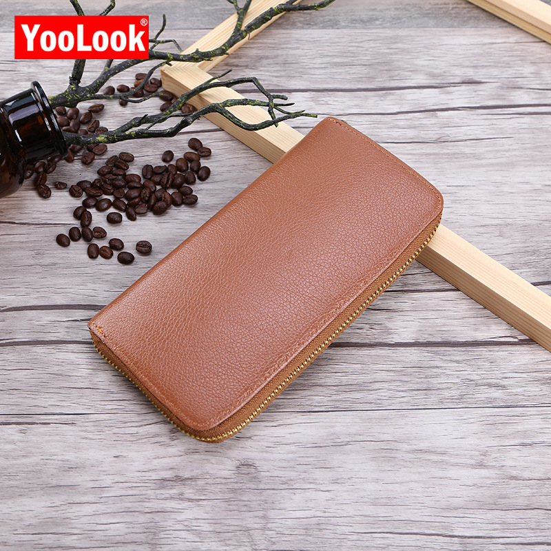 YOOLOOK Wallets Men Card-Holder Clutch Ladies Purse Zipper Designer Fashion Brand Classic