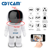 CDYCAM Robot IP Camera HD WIFI Baby Monitor 960P 1.3MP CMOS Wireless CCTV P2P Audio Security Remote Home Cam IR Night Vision