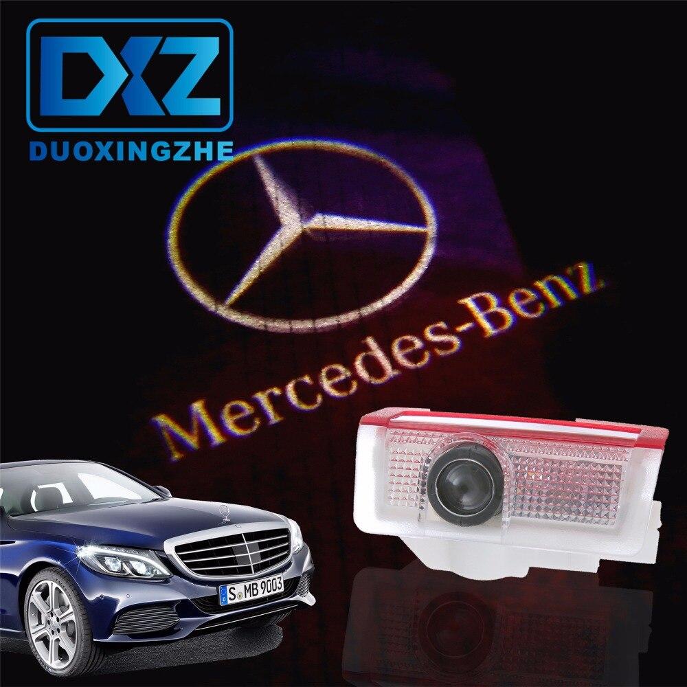 2 pcs Voiture LED Porte Logo Projecteur D'ombre de Fantôme Lumière pour Mercedes benz w212 w166 w176 E200 E300 E260 AMG