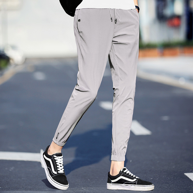 Pants Men 2019 Summer New Casual Ankle-length Pants Male Fashion Slim Fit Pencil Pants Thin Business Trousers Men Clothing