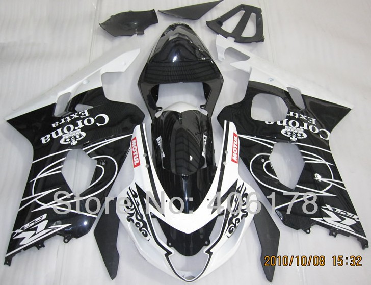 Hot Sales,Cheap gsxr fairings For Suzuki GSXR 600 750 gsxr 2004 2005 Corona Extra Sport Bike Fairings Kit (Injection molding) lowest price fairing kit for suzuki gsxr 600 750 k4 2004 2005 blue black fairings set gsxr600 gsxr750 04 05 eg12