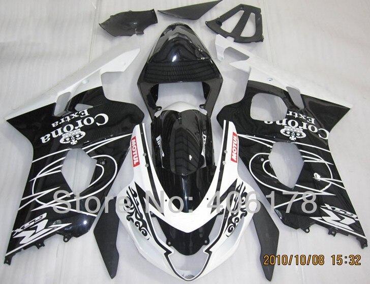 Горячие продаж,дешевые обтекатели для Suzuki gsxr GSXR 600 gsxr 750 2004 2005 Корона Экстра спортивный мотоцикл Обтекатели комплект (литья под давлением)