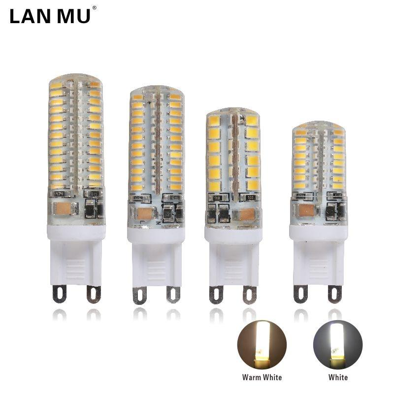 LAN MU G9 LED lamp AC 220v LED bulb 48 64 96 104 LEDS SMD 2835 3014 led light for Chandelier spotlight replace halogen lamp mini 10xg9 led corn light smd 3014 bulb spotlight for chandelier replace 5w halogen lamp 64led ac 110 240v