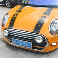 Lovely Car Stickers Hood Bonnet Straps Styling Decals For Mini Cooper One S JCW Countryman F56 F55 F60 R56 R60 R61 Accessories