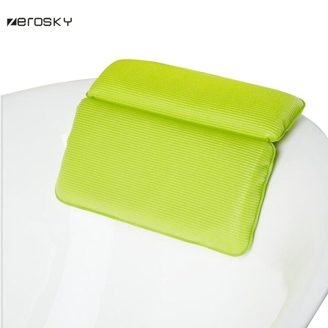 Zerosky Bathroom SPA Super Soft Pillows Bathtub Headrest With ...