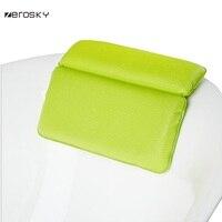 Zerosky Bathroom SPA Super Soft Pillows Bathtub Headrest With Suction Cup Waterproof Bath Pillows for Shower Massage Neck