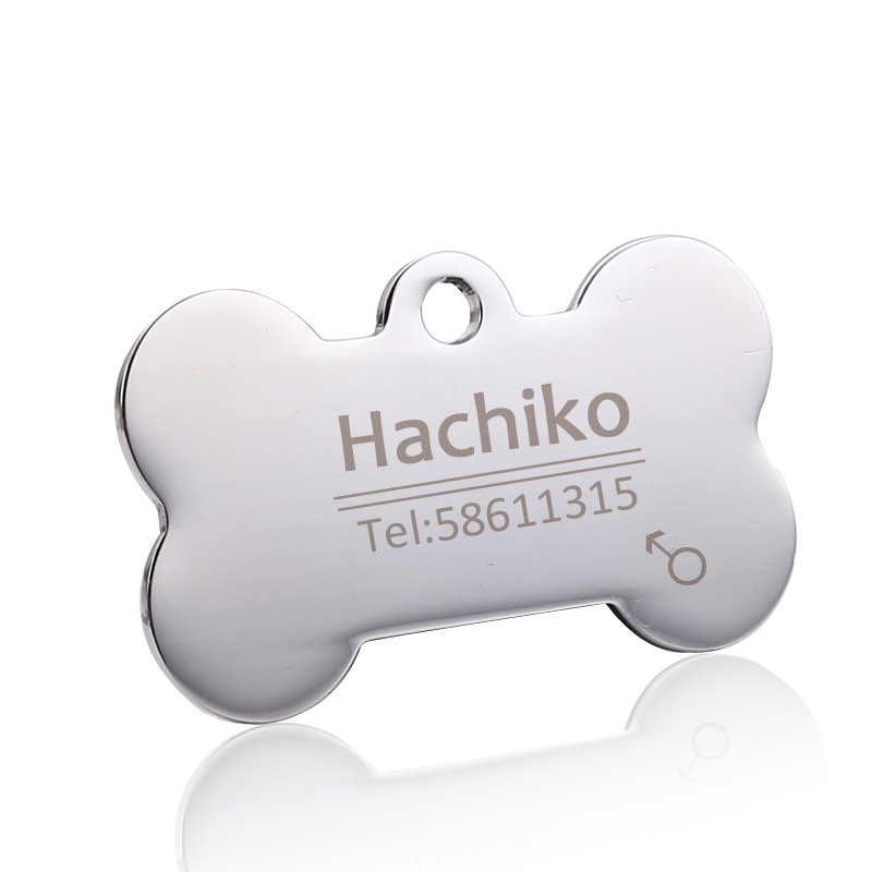 Stainless Steel Customized Cat Dog ID Tag [Free Engraving]