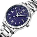 Date Day Stainless Steel Luminous Hours Clock Dress Men Casual Quartz Watch Sport Wristwatch 2016 Men's Watch With Gift Box 8809