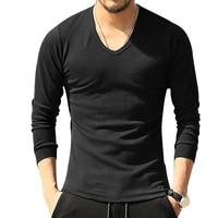 High Quality Long Sleeve Mens T Shirts Casual Tactical Tops Tees Slim Stretch T Shirt Men