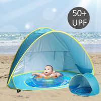 Wasserdicht Uv-schutz kinder Zelt Tragbare Tipi Trockenen Pool Baby Strand Outdoor Camping Kinder Zelt kinder Haus spiel Zelte