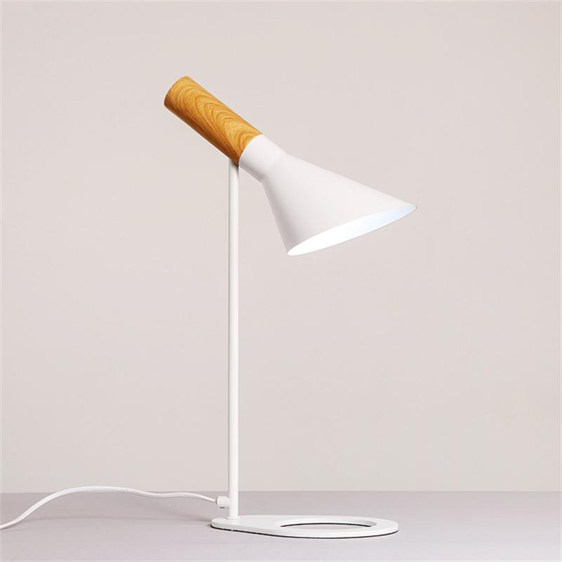 Modern Minimalist LED Desk Lamps Bedside Book Reading Study Office Work Table Lights Nordic Adjustable E27 Iron Art Lighting
