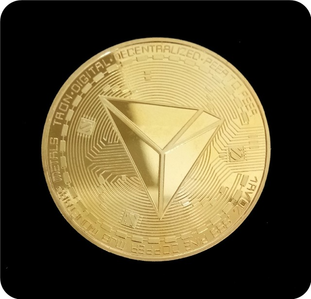 New Non-currency TRX Coins Virtual Metal Commemorative Coins TRX Coins Bitcoin Commemorative Coins Gift Drop Shipping 3