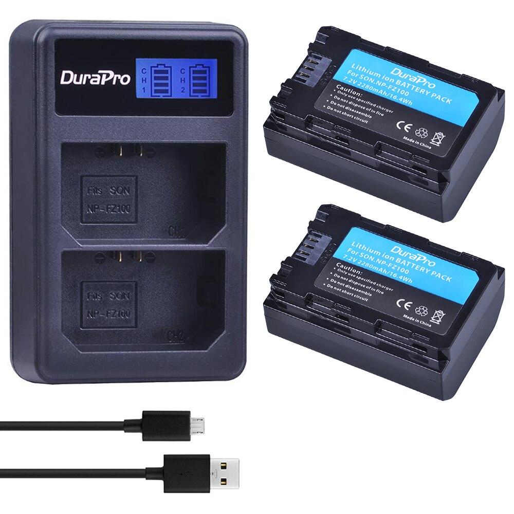 2pcs NP-FZ100 NP FZ100 camera battery + LCD Dual USB charger for Sony A7R III A7 III BC-QZ1 A9/A9R Alpha9 Alpha9R Alpha 9S A7RM3 durapro 4pcs np f970 np f960 npf960 npf970 battery lcd fast dual charger for sony hvr hd1000 v1j ccd trv26e dcr tr8000 plm a55