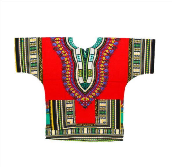 100% Kwaliteit 2019 Dashiki Fashion Design Afrikaanse Traditionele Gedrukt 100% Katoen Dashiki T-shirts Voor Unisex Tribal Etnische Succunct