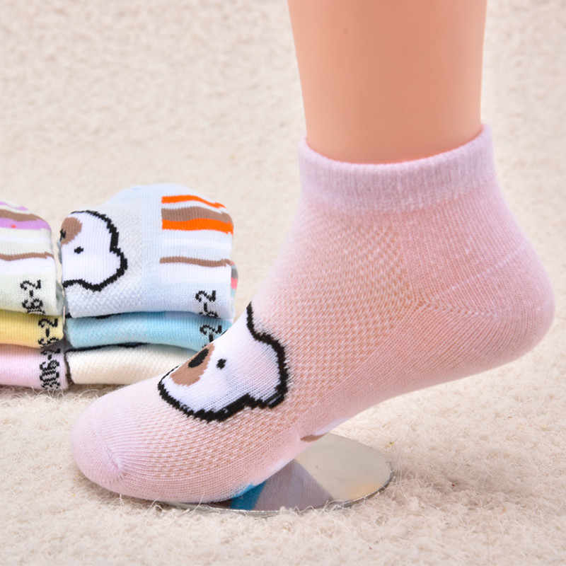 Горячая распродажа 0-11 лет весна детские хлопковые носки детские хлопковые носки сетчатые носки для малышей с изображением медведя короткие носки без пятки оптом