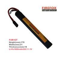 1pcs 100% Orginal Firefox 11.1V 1600mAh 20C LiPo Li Polymer Stick rc Battery F4R16T