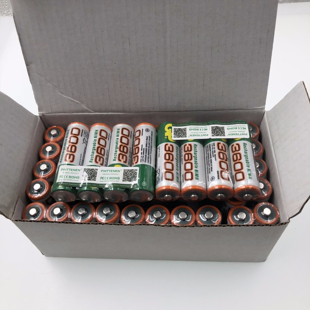100% New 1.2V AA 3600mAh NI MH Pre-Charged Batteries Ni-MH Rechargeable AA3600 Battery For Toys Camera Microphone