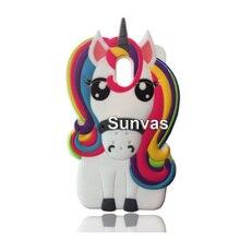 3D Cute Cartoon Colorful Unicorn Horse Soft Silicone Phone Back Cover Case Skin for Meizu M5 Meilan 5 M6 6