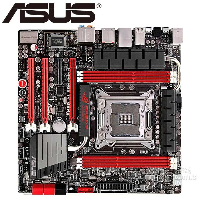 Asus Rampage IV Gene Desktop Motherboard X79 Socket LGA 2011 Core i7 DDR3 64G ATX UEFI BIOS Original Used Mainboard On Sale