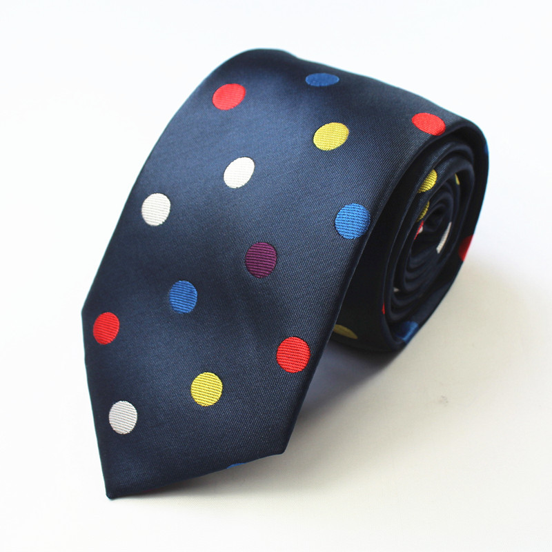 Mantieqingway Fashion Brand Ties for Men Christmas Gifts Snowman Polka Dots Polyester Necktie Skinny Gravata for Men Neck Ties
