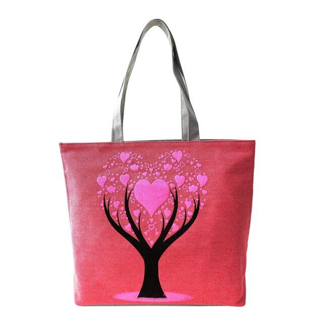 Love Tree Canvas Handbag Preppy School Bag For S Women Handbags Cute Bags Lt88
