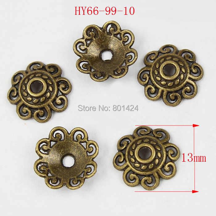 1 lote 66-99 diferentes tamaños india joyería accesorios Flor de tono bronce cuentas tapas joyería espaciador cuentas