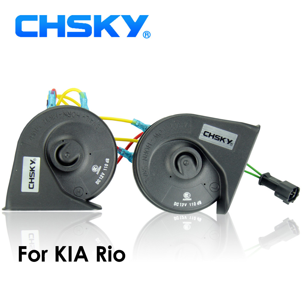 CHSKY Car Horn Snail type Horn For Kia Rio 2013 2014 12V Loudness 110-129db Auto Horn Long Life Time High Low Klaxon Car Styling(China)