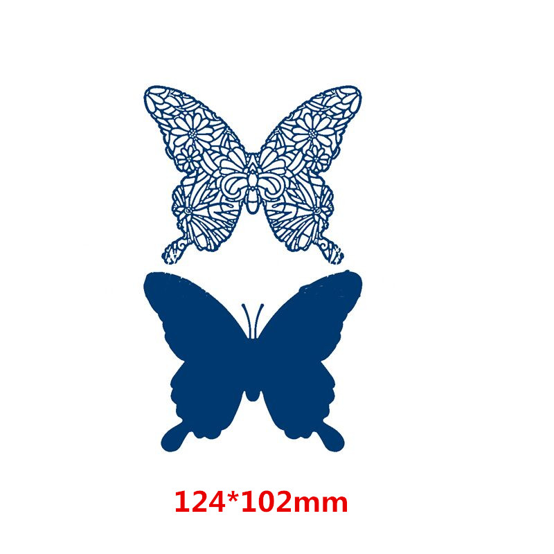 2pcs Butterfly Metal Cutting Dies for Scrapbooking DIY Card Album Embossing Card Making Paper Decor New 2019 in Cutting Dies from Home Garden