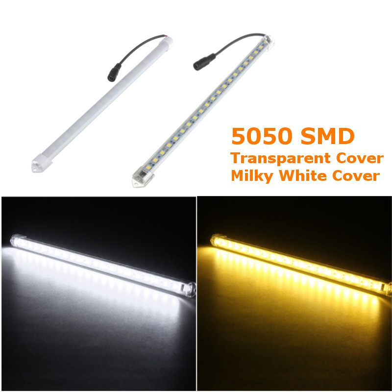 DC12V 5W/8W 30CM 5050 SMD LED Aluminum Alloy Shell Under Cabinet Lamp Strip Hard Light T ...