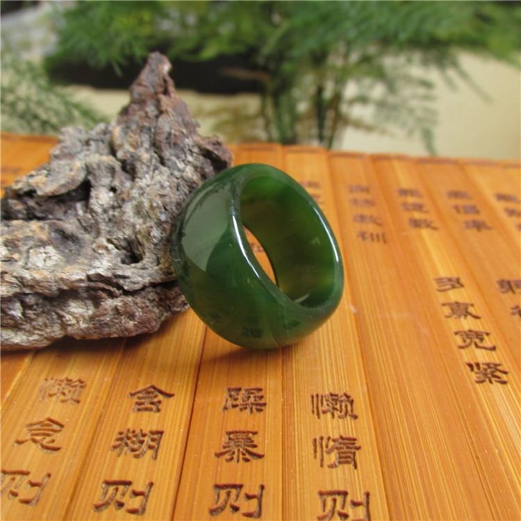 Природный имперский зеленый кольцо из сардоникса ширина мужских и женских моделей нефрита палец кольцо тянет коррекции продуктов