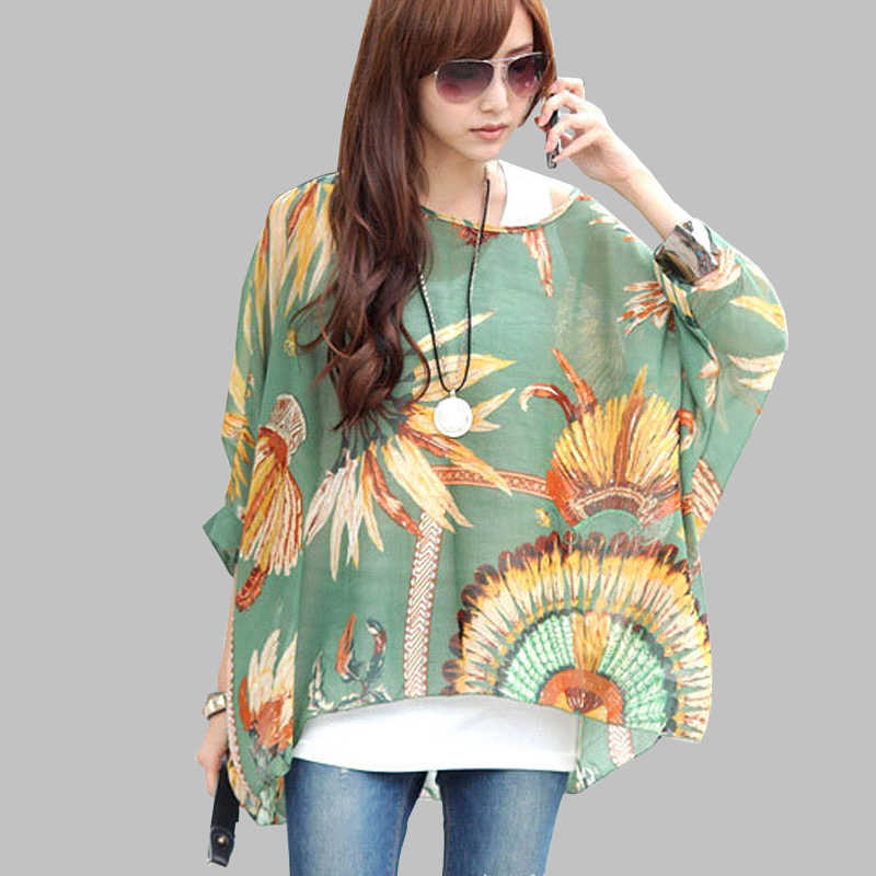 444480d87ffad ... Women Blouses and Tops New Fashion 2018 Floral Print Short Sleeve  Summer Blouse Plus Size 4XL ...