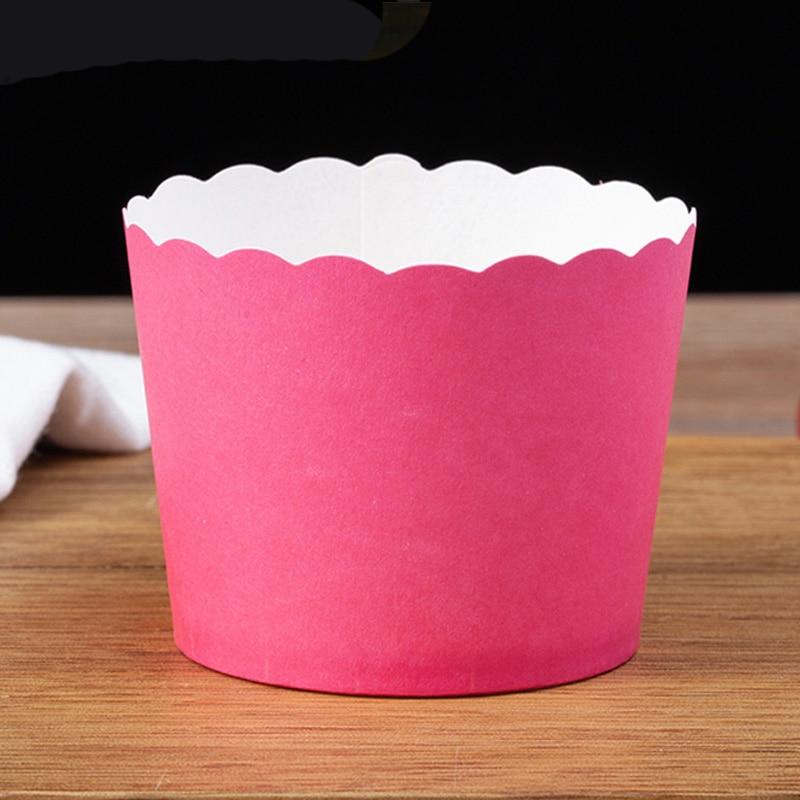 KINTRADE 50 Teile//los Solide Wrapper Liner Cup Muffin Tulip Fall Kuchen Papier Backen Cupcake Blau