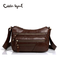 Cobbler Legend Elegant Genuine Leather Bag Female Multi Zipper Designer Bag Gift For Mum Women Crossbody