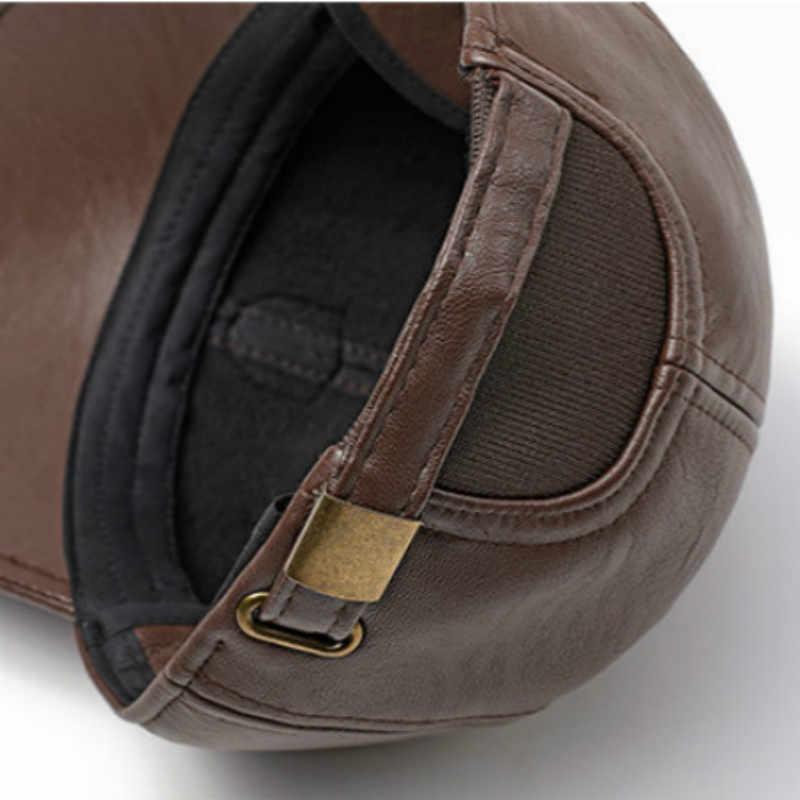 بو Snapback قبعة الرجال عالية الجودة الذكور قبعة بيسبول الهيب هوب فو الجلود خمر قبعة سائق الشاحنة للعجائز عارضة الشتاء العظام