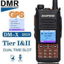 BaoFeng DM X DMR GPS 기록 디지털 워키 토키 VHF UHF 듀얼 Dand 136 174 & 400 470MHz 듀얼 타임 슬롯 햄 양방향 라디오