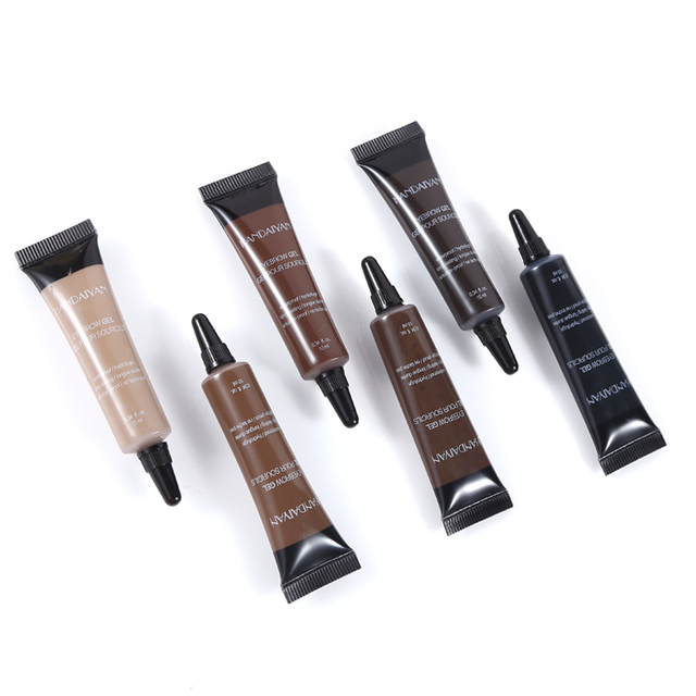 Eyebrow Cream Gel with Brush Waterproof Eyebrow Enhancer Makeup Microblading Eyebrow Tattoo Pen Tint Long Lasting Eye Brow 5