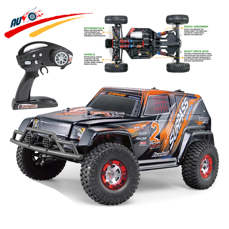 <font><b>RC</b></font> Monster <font><b>Car</b></font> 1/12 <font><b>scale</b></font> 2.4GHz Surpass Speed Radio 4WD Rock Racer RTW SUV Vehicle Buggy with Differentials/Shock Absorber