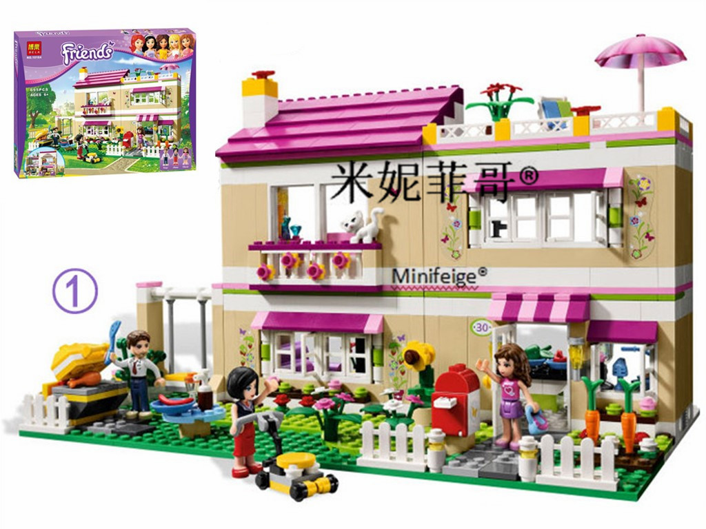 New compatiable with legoe Friends Olivia's House building bricks blocks Toys for children Girl Game Castle Gift Bela NO.10164 lepin 24010 monster dino building bricks blocks toys for children boys game model car gift compatible with decool bela 4958
