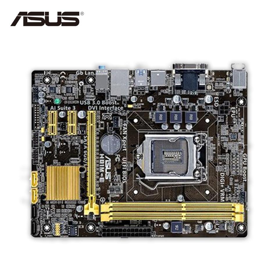 Asus H81M-E Desktop Motherboard H81 Socket LGA 1150 i7 i5 i3 DDR3 16G SATA3 UBS3.0 Micro-ATX Second-hand High Quality asus maximus vii ranger desktop motherboard m7r z97 socket lga 1150 i7 i5 i3 ddr3 32g sata3 atx second hand high quality
