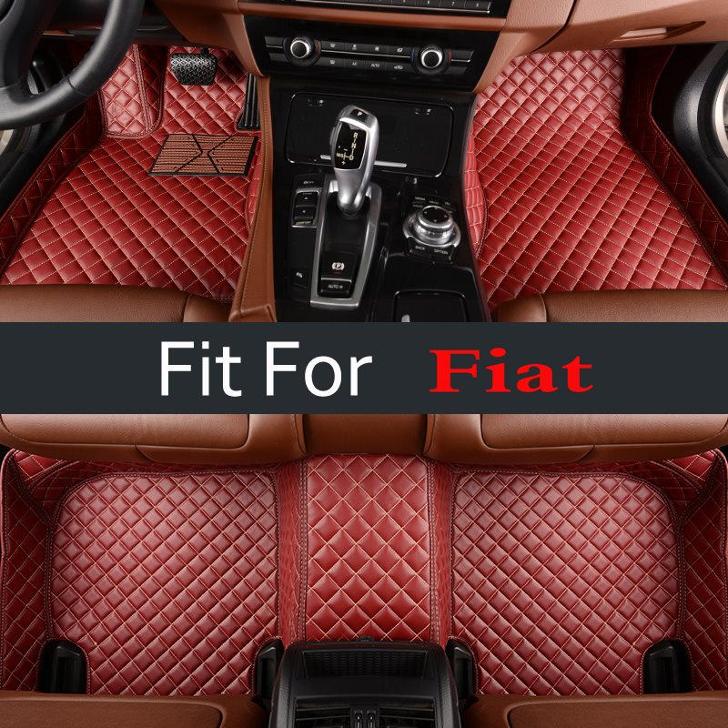 Cute Interior Carpet Car Floor Mats For Fiat 500 Viaggio S Freemont Bravo Ottimo Red 3d Custom Fit custom cargo liner car trunk mat carpet interior leather mats pad car styling for dodge journey jc fiat freemont 2009 2017