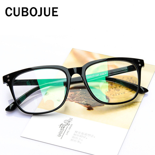6182a911028 Cubojue Vintage Mens Glasses Frame Women Square Retro Eyeglasses with  Optical Clear Lens Full Frames Oversized