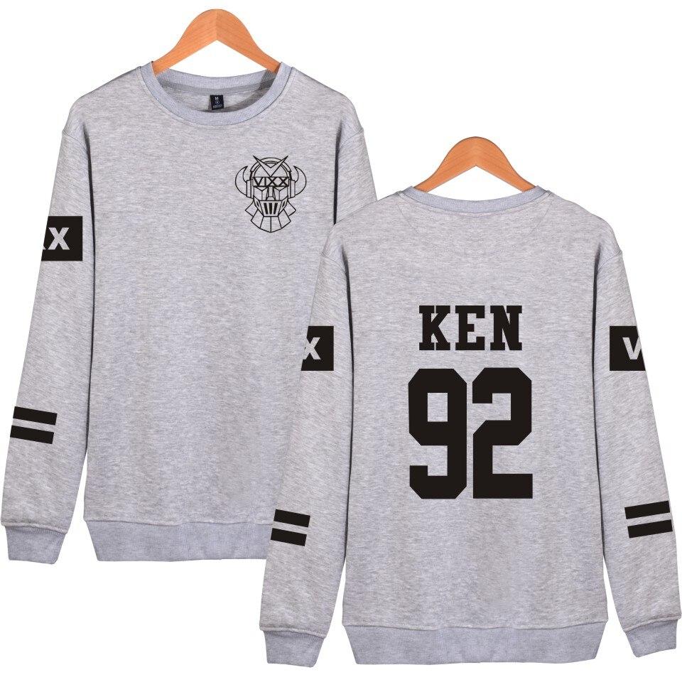 Mikiny pro fanoušky VIXX Kpop Podpora Členský název Tištěné Vixx 92 KEN 95 HYUK Fleece mikiny svetr Černá mikina s kapucí Korean Clothes