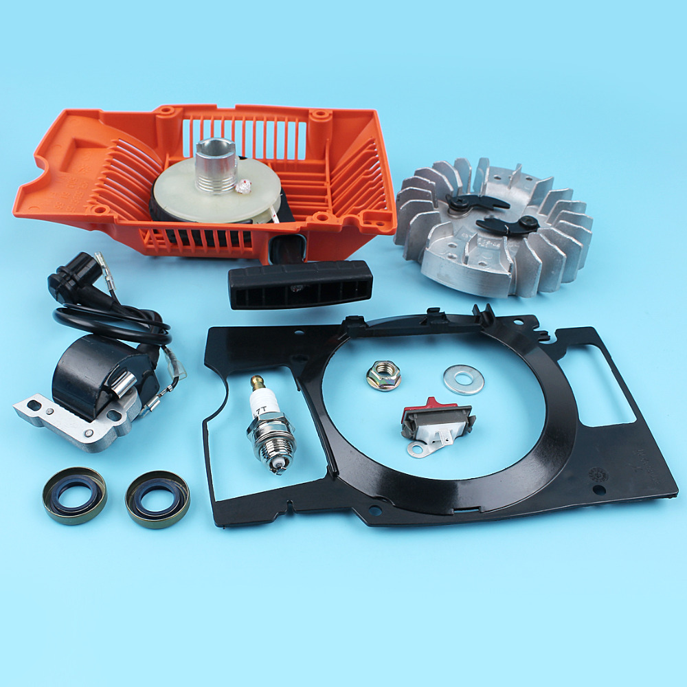 Tools : Recoil Starter Flywheel Ingition Coil Switch For Husqvarna 268 272 272XP Chainsaw Oil Seal Air Conductor