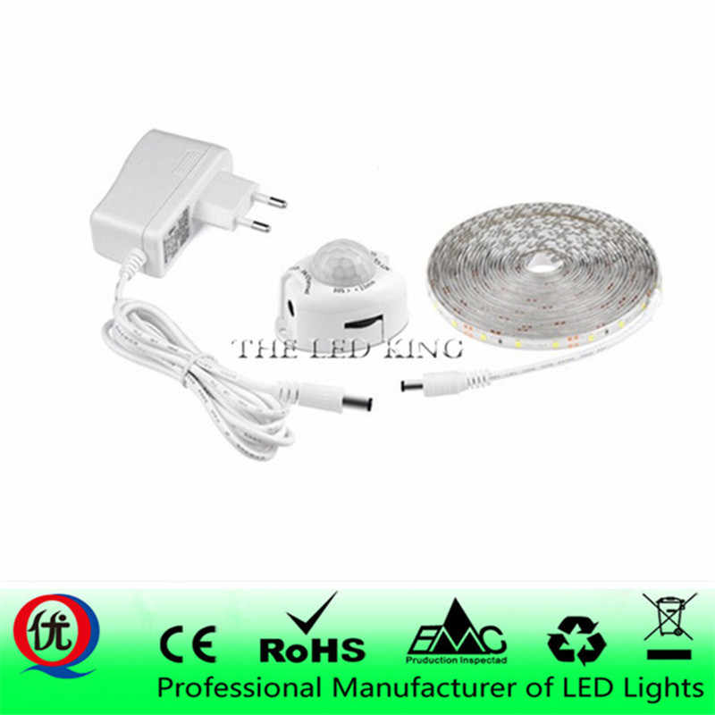 DC12V LED Strip Motion Sensor Light Auto ON/OFF Flexible LED Tape 1M 2M 3M 4M 5M 10M SMD2835 Bed light with power supply