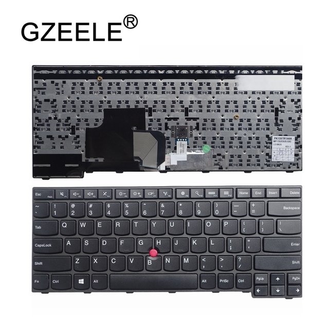 US $24 84 29% OFF|GZEELE English New Laptop Keyboard for IBM For Thinkpad  E450 E455 E450C W450 With pointing stick US Replacement Keyboard-in