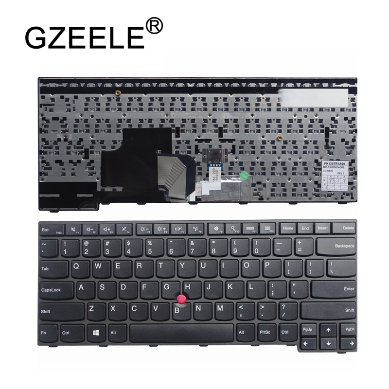 GZEELE English New Laptop <font><b>Keyboard</b></font> for IBM For <font><b>Thinkpad</b></font> <font><b>E450</b></font> E455 E450C W450 With pointing stick US <font><b>Replacement</b></font> <font><b>Keyboard</b></font> image